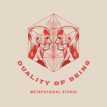 Logo Template Featuring Metaphysical Illustrations 4420