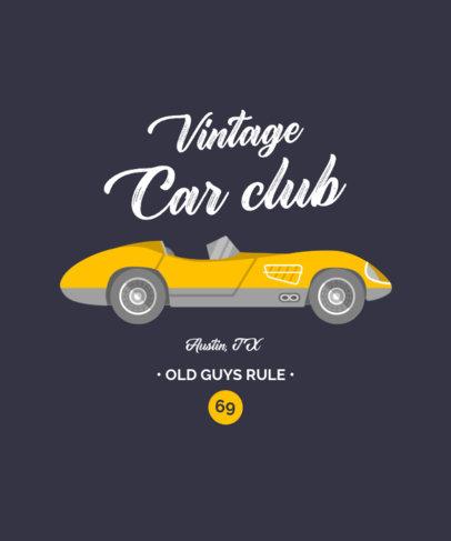 T-Shirt Design Template with a Classic Convertible Car Illustration 4098e-el1