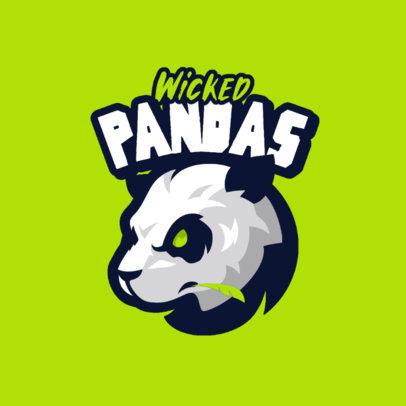 Gaming Logo Creator with a Wicked Panda Graphic 4110b-el1