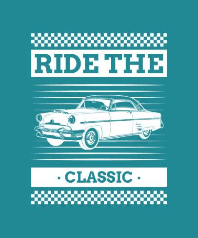 T-Shirt Design Creator Featuring a Vintage Car Illustration 4102a-el1