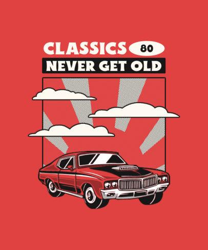 Retro T-Shirt Design Maker Featuring a Classic Car Clipart 4096a-el1