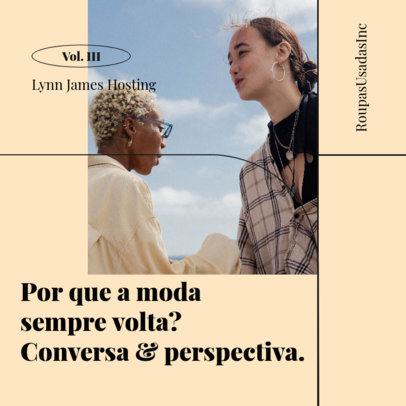 Podcast Cover Creator for a Brazilian Production About Fashion 4078b-el1