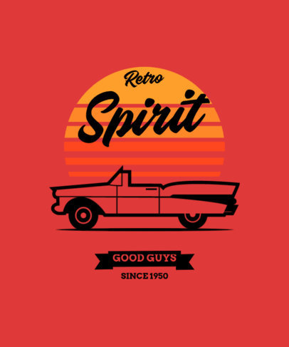 T-Shirt Design Maker Featuring a Retro Graphic with a Cadillac-Inspired Graphic 4104a-el1