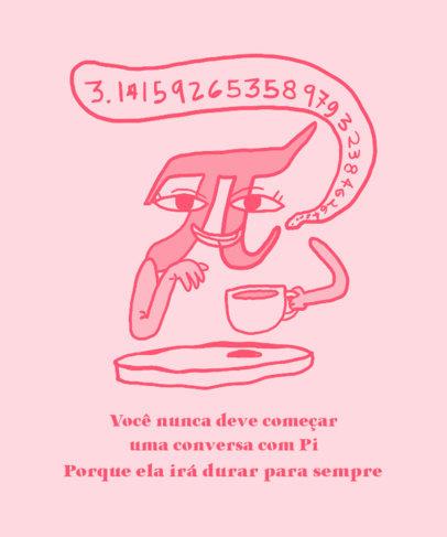 T-Shirt Design Template Featuring a Math Pun 3795b