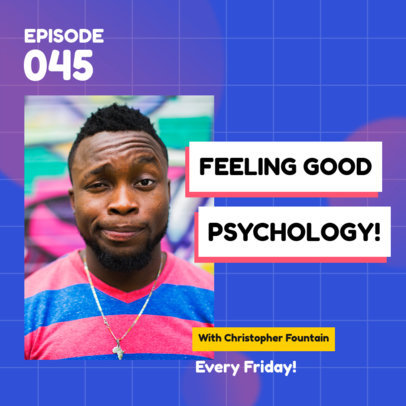Psychology Podcast Cover Generator for Self-Care Tips 4080b-el1