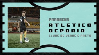 YouTube Thumbnail Maker of a Soccer Club's Championship 3783c