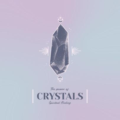 Logo Generator Featuring a Spiritual Healing Theme and a Crystal Clipart 4423b