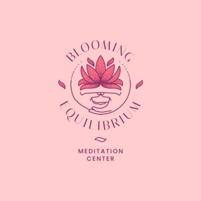 Meditation Center Logo Generator Featuring a Plant Graphic 4421b