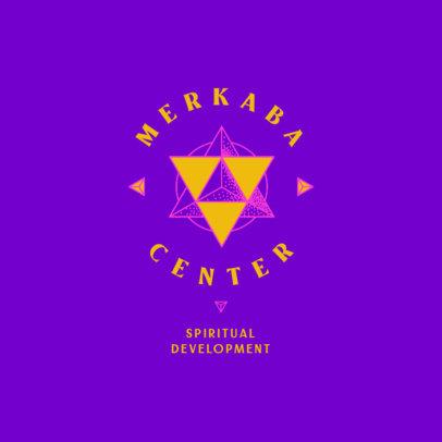 Logo Maker for a Spiritual Development Institute Featuring a Metaphysics Symbol 4421j
