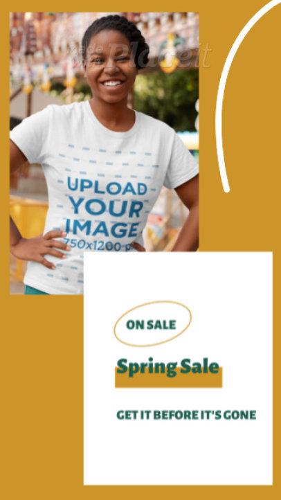 T-Shirt Video Featuring a Young Woman and Sales Copy 3519v-el1