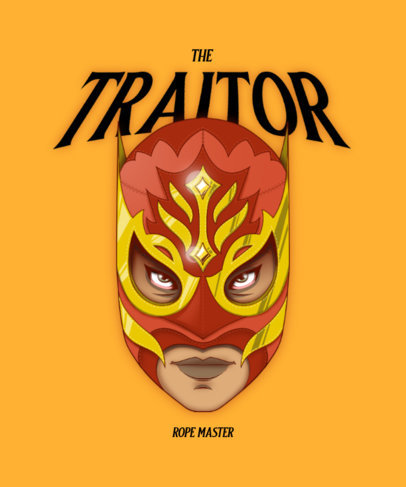 T-Shirt Design Generator with a Masked Wrestler Head 4452A