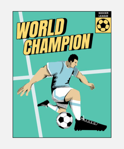 T-Shirt Design Generator for Soccer Enthusiasts 4128e