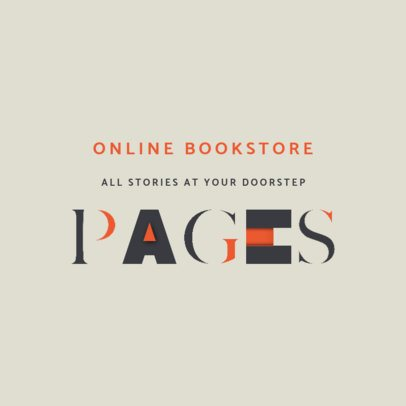Logo Generator for an Online Bookstore 4446f