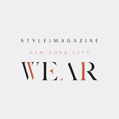 Elegant Logo Maker for a Fashion Magazine 4446i