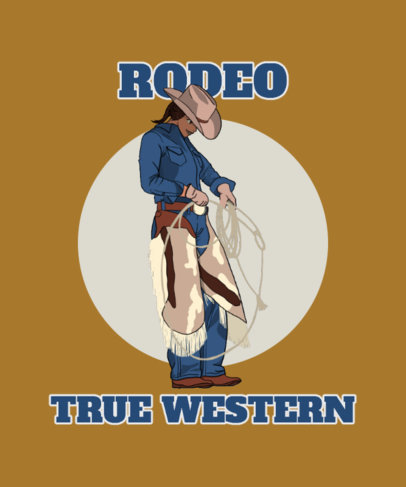 T-Shirt Design Maker with a Rodeo Cowgirl Graphic 3819d