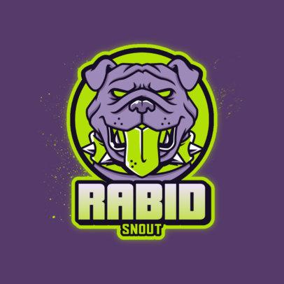 Gaming Logo Template Featuring an Aggressive Bulldog Graphic 4230g 4448