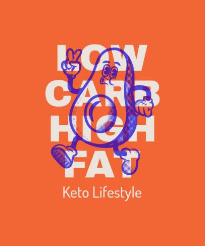 T-Shirt Design Creator Featuring Keto Diet Quotes 3829