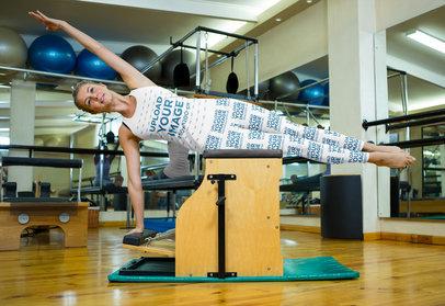 Tank Top Mockup of a Woman With Leggings Doing Gymnastics 44976-r-el2