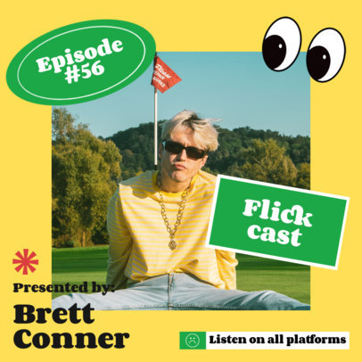 Instagram Post Generator with Colorful Graphics for a Podcast Ad 4125b-el1