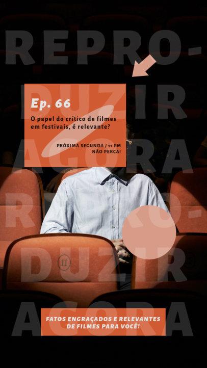 Cinema-Themed Instagram Story Creator for a Brazilian Podcast 4090f-el1