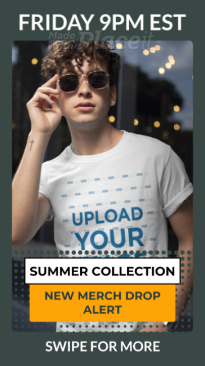 T-Shirt Video of a Young Man Promoting a New Apparel Collection 3517v