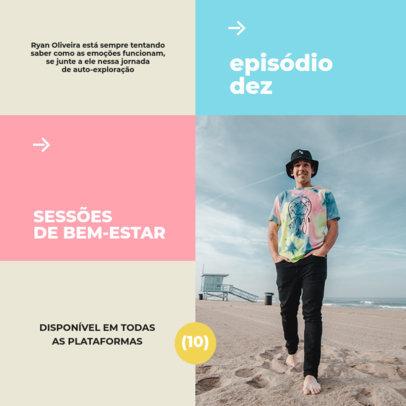 Psychology Podcast-Themed Instagram Post Maker fir a Brazilian Show 4117f-el1