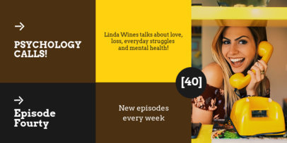Twitter Post Maker to Promote a Psychology-Themed Podcast 4118a-el1