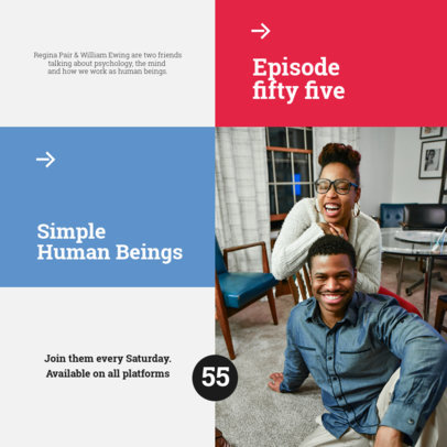 Instagram Post Design Generator to Promote a Psychology Podcast 4117e-el1