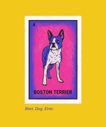 T-Shirt Design Maker Featuring a Boston Terrier Illustration 4466i