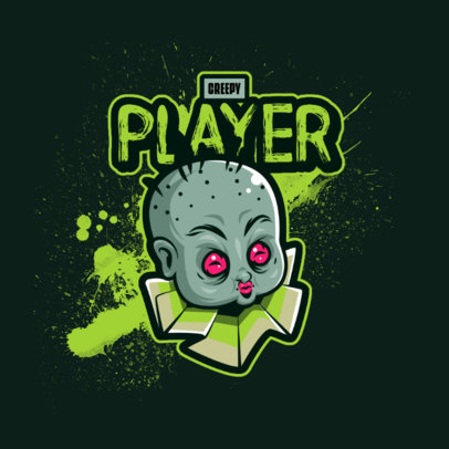Gaming Logo Maker With a Creepy Character Inspired by Resident Evil 4460c