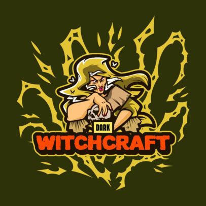 Logo Generator for Resident Evil Fans Featuring a Witch Illustration 4460b