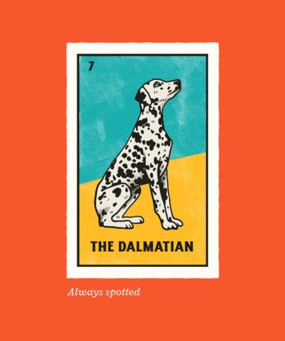 T-Shirt Design Maker Featuring a Dalmatian Illustration 4466c