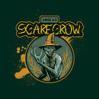 Logo Maker for Resident-Evil Fans Featuring a Demonic Scarecrow Illustration 4460i