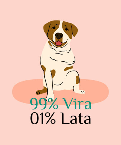 T-Shirt Design Maker with a Fun Quote to Promote Dog Adoption 3839h