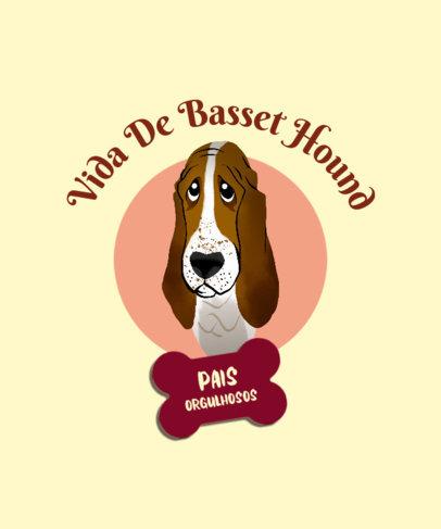 T-Shirt Design Maker Featuring a Sad Basset Hound Graphic 4468i