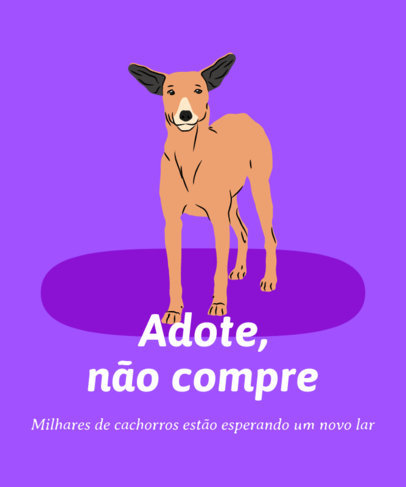 T-Shirt Design Creator for a Dog Adoption Campaign 3839b