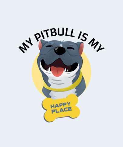 Illustrated T-Shirt Design Maker for a Pit Bull Owner 4468f