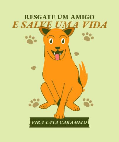 T-Shirt Design Maker Featuring a Cute Vira-Lata Dog Graphic 3840f