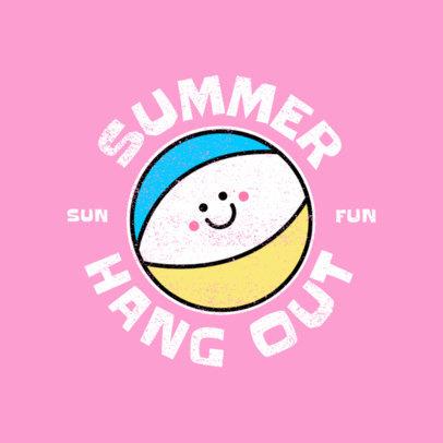 Kids Summer Camp Logo Maker Featuring Cute Graphics 4484d