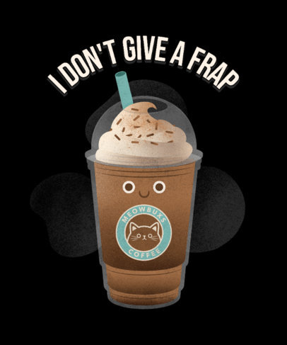 Junk Food Day-Themed T-Shirt Design Creator with a Frappe Illustration 3848d