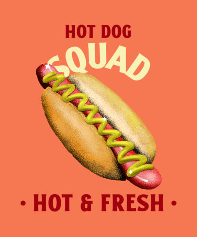 Junk Food Day T-Shirt Design Template Featuring a Hot-Dog Clipart 3850a