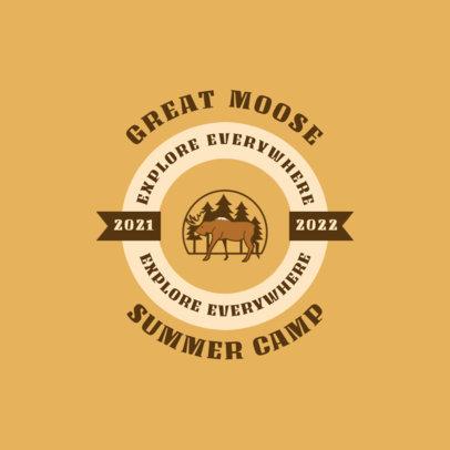 Logo Maker for a Summer Camp Featuring a Circular Emblem 4480g