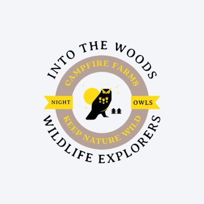 Online Logo Generator for a Wildlife Summer Camp 4480K