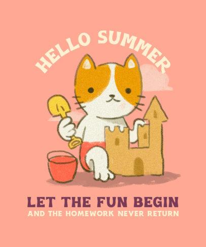 Kids' T-Shirt Design Maker Featuring Summer Theme 3845d
