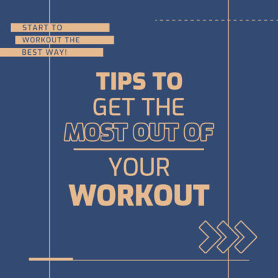 Instagram Post Creator to Share Tips on Effective Exercise 4148b-el1