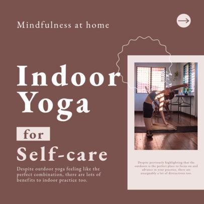 Instagram Post Design Maker for a Yoga-Themed Carousel 4140c-el1