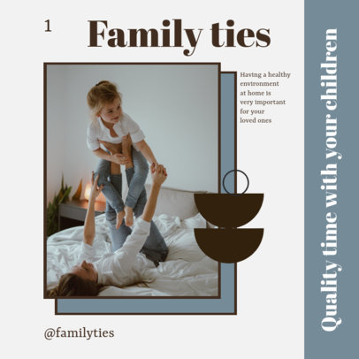 Instagram Post Design Maker for a Carousel About Family Well-Being 4156b-el1