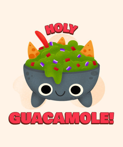 T-Shirt Design Creator with a Guacamole Illustration for Junk Food Day 3848a