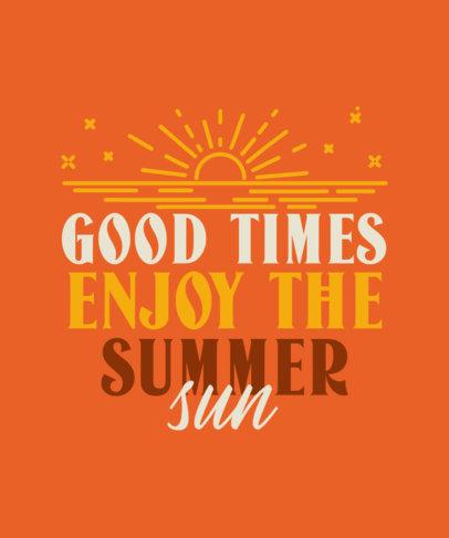 Summer T-Shirt Design Maker Featuring a Sunset Graphic 3843h