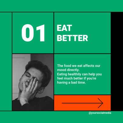 Colorful Instagram Post Generator Featuring Healthy-Eating Advice 4145f-el1